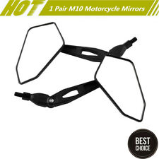1 Pair New M10 Universal Motorcycle Rear View Mirrors Adjustable Side Mirrors