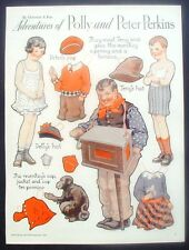 Polly and Peter Perkins Gertrude Kay Pictorial Review Paper Doll Cut Out 1933