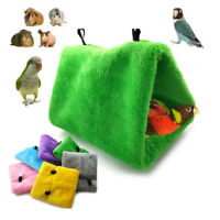 Bird Parrot Triangle Shape Cage House Hanging Nest Bed Hammock Soft Pet Supplies