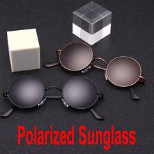 Small John Lennon Round Hippie Hipster Retro  Breeze Black Sunglasses