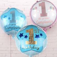 """18""""Large 1st Birthday Party Number Foil Balloon Baby Boys And Girls Party Decor"""