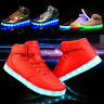 New Boys Girls Light Up Shoes Kids Children LED Luminous Sneakers High Top Shoes