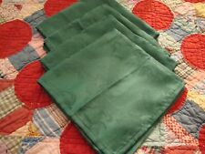 "Thanksgiving Christmas Table Linens Green Damask Napkins Lot (4) 17"" Square  227"