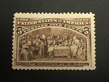 US Stamp # 234 Mint OG H $55   ---   Lot #60