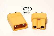 Hochstrom XT30 Stecker | Buchse Goldkontaktstecker 1 Paar für Quad Hexa Copter