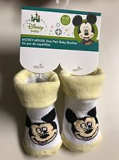 Disney Mickey Mouse Baby Booties 0-12 Months Yellow