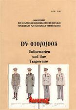 NVA DDR Dienstvorschrift DV 010/0/005 Uniformarten und ihre Trageweise Uniformen