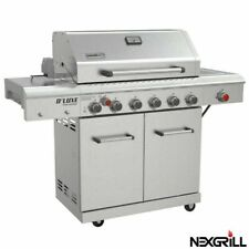 Nexgrill 7 Burner Stainless Steel Gas Barbecue + Side Burner + Cover +Rotisserie