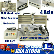 4 Axis Cnc 6090 Router Engraver Engraving Milling Machine Usb 1.5kw Vfd Cutting