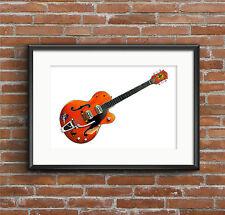 Brian Setzer's 6120 guitare-Poster print format A1