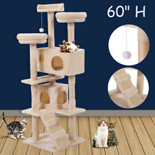 """New listing 60"""" Cat Tree Tower Condo Scratching Post Tower Kitty Play House"""