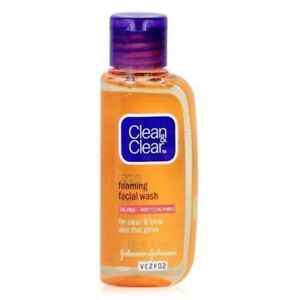 Clean And Clear Essentials Foaming  Clean Skin Carefully Facial Wash 50ml----