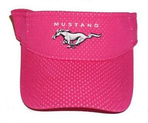 FORD MUSTANG VISOR IN PINK ADULT SIZED SOLD EXCLUSIVELY HERE