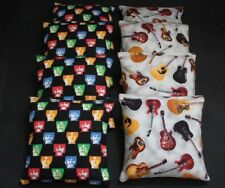Beatles Cornhole Bean Bags 8 Aca Regulation Party Game Rock & Roll Guitar