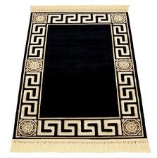 Mäander Teppich K-Seide 67x105 cm Meander Medusa Carpet Schwarz Rug Black versac