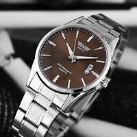 Fashion Luxury Stainless Steel Band Date Analog Quartz Sport Mens Wrist Watch