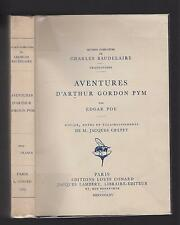 EDGAR POE AVENTURES D'ARTHUR GORDON PYM TRAD.CH. BAUDELAIRE 1965 LOUIS CONARD