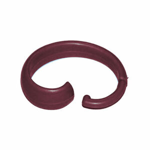 BURGUNDY HANG EASE Plastic Shower Curtain Hooks: Set of 12 Simple to Use
