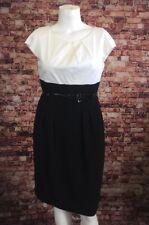 White House Black Market Black White Color Block Sheath Dress Size 14