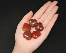 """Carnelian Heart: 1"""" (Crystal Heart, Puffed, Stone Heart, Gemstone Heart)"""