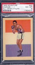 1956 Adventure # 42 Ezzard Charles All Star Athlete NM MT PSA 8