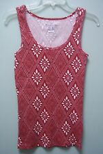 FADED GLORY Red Sleeveless Tank Top Shirt Womens    Small S  4 - 6   NEW