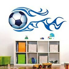 FOOTBALL POSTER BLUE MURAL BOYS ROOM WALL ART STICKERS HOME DECAL DIY DECORATION