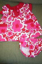 r- CLOTHES BABY SZ 3 MO DRESS W/MATCHING PANTIES CARTER'S NEVER WORN WASHED 1X