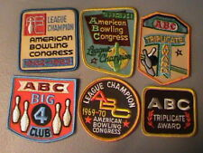 VINTAGE LOT OF 6 AMERICAN BOWLING CONGRESS LEAGUE CHAMPION PATCHES