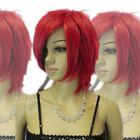 Women's Short Bright Red Straight Layered Medium Fancy-Dress Party Hair Full Wig