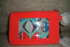 """VERA BRADLEY  ZIP ID CASE in  """"CLAM-CORAL REEF""""  NWT  FAUX LEATHER TRIM $24 RET."""