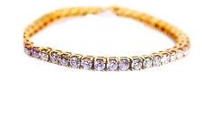 ROUND BRILLIANT CUT DIAMOND TENNIS BRACELET 4 PRONGS