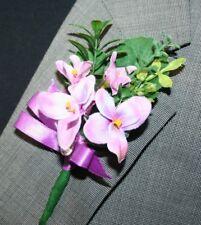 Purple Flower Boutonniere, Wedding Accessories, Prom