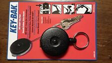 "KEY-BAK #485B-HDK Retractable Reel with 48"" Kevlar Cord Split Ring - Brand New"