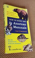 How to Know the American Mammals by Ivan Sanderson c. 1951 1957 Signet Vtg Pb