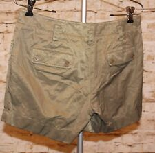TALBOTS Women Cotton Olive Green Cuffed Cargo Shorts Size 4