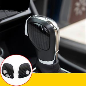 For VW Volkswagen Passat 2016-2019 Carbon Fiber Gear Lever Shift Knob Cover Trim