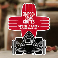 Simpson Drag Chutes sticker decal old school hot rod drag racing 4.75""