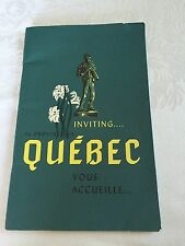 1963 Inviting La Province De Quebec Vous Accueille Travel Guide Eng/French