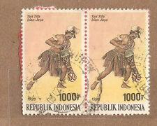 Ori mounted on envelope Irian Jaya Dance  stamps 1000rp x 2
