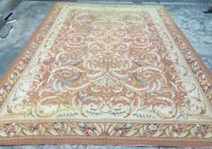 Article M1527 Vintage French Abusson Hand Made Needle Work Wool Rug 414 x 290 cm