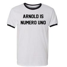 Arnold Is Numero Uno T Shirt Pumping Iron Schwarzenegger Movies DVD Blu Ray Tee