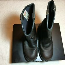 Pecos Mens Motorcycle Work Boots Distressed Brown Leather Size 8 Red Wing Shoes