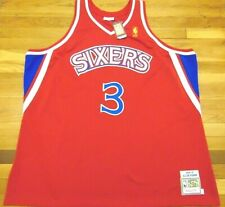 MITCHELL & NESS NBA PHILADELPHIA 76ERS ALLEN IVERSON 1996-97 AUTHENTIC JERSEY 64