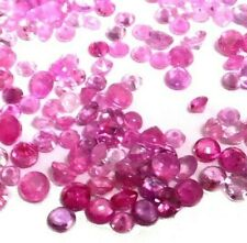 NATURAL SRILANKAN ROUND-CUT PINK SAPPHIRE LOOSE STONES 10 pieces - 1.7 - 2.1 mm