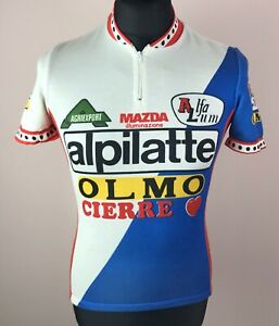 Alpilatte-Olmo-Cierre 1985 Cycling Jersey Men's Size 2 (S) Alfa Lum Mazda Shirt