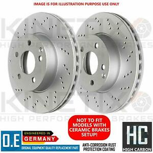 FOR AUDI A8 S8 KINETIX REAR CROSS DRILLED PERFORMANCE BRAKE DISCS PAIR 335mm