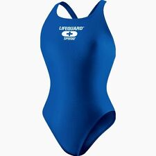 NWT SPEEDO Sapphire Blue Super Proback Lifeguard Racing Swimsuit Sz 10 36 $64