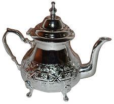 Moroccan Tea Pot Serving Handmade Fez Large Mint Green Tea Kettle Silver Tray