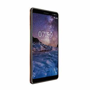 Nokia 7 Plus - 64GB 4GB Ram Black Copper Unlocked Smartphone